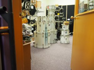drum room with all the drums